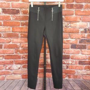 Zara Trafaluc Black zipper pant M